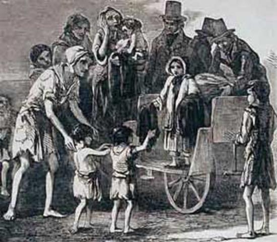 Irish famine, highland clearances