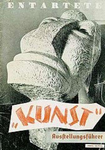 Natzis declared him a entarteter Künstler (degenerate artist),