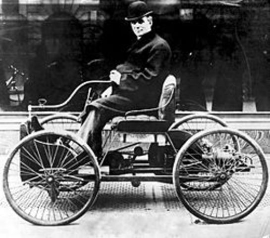 Ford creates his own self-propelled vehicle the Quadricycle
