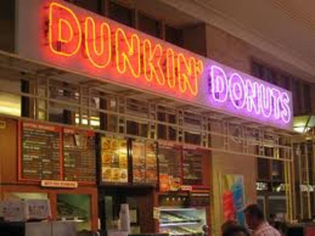100 Dunkin' Donuts shops