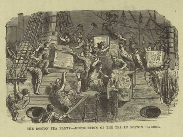 East India Co. and Boston Tea Party