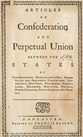 Acticles Of Confederation