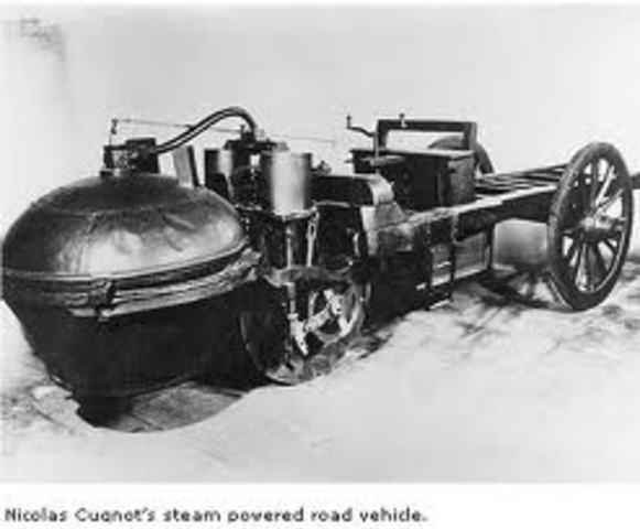 first self-propelled car built