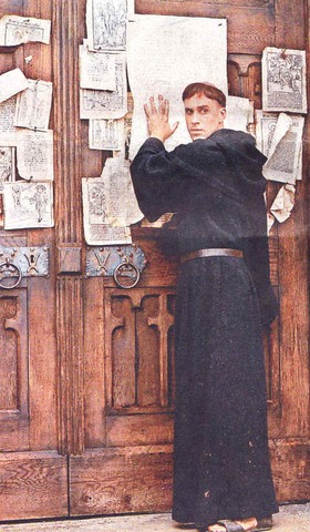 Martin Luther Post his 95 Theses