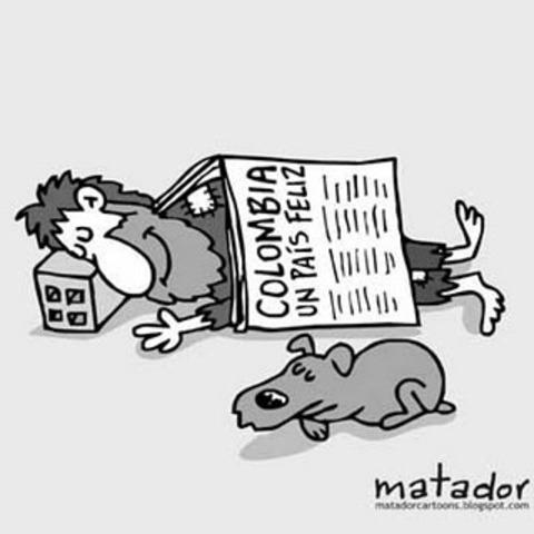 Implantacion del modelo neoliberal en Colombi