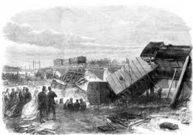 Dickens vive un accidente ferroviario