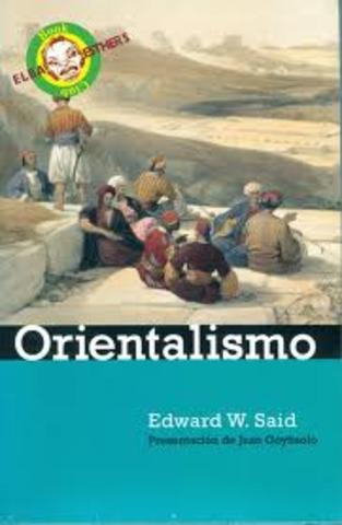 """Publicacion de """" El orientalismo"""" - Edwar w. Said"""