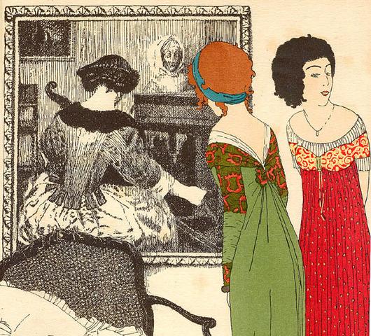 Paul Poiret designs corset-less dress