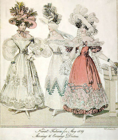 Re-adopting of the Tight Corset & Full Skirts, 1820's