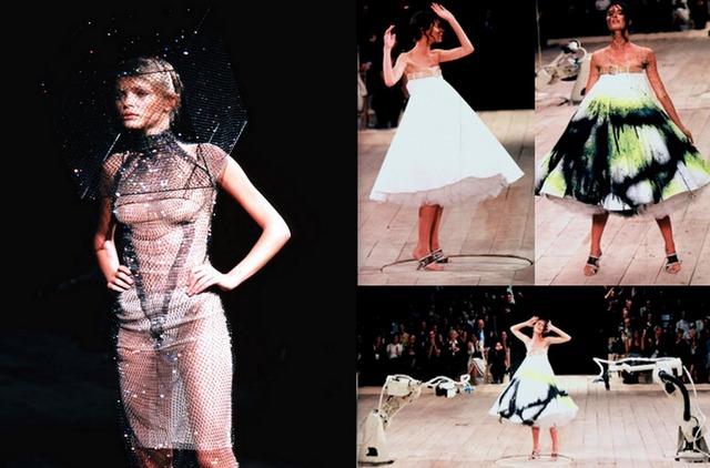 Alexander McQueen emerges as daring new designer.