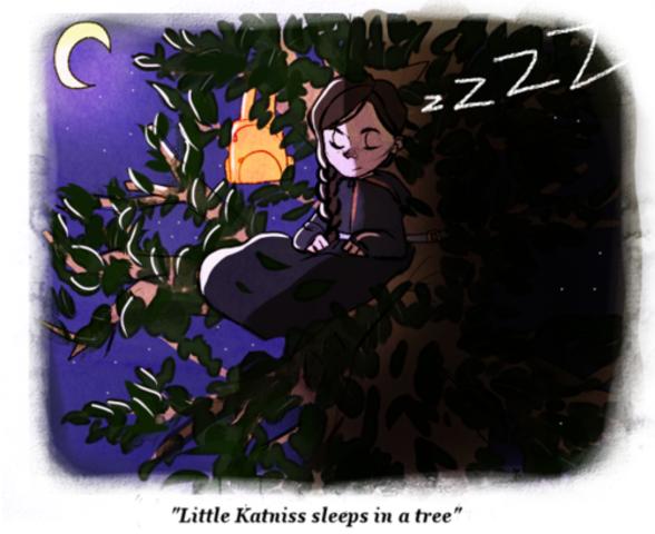 Katniss Finds a Spot to Camp- bb3951