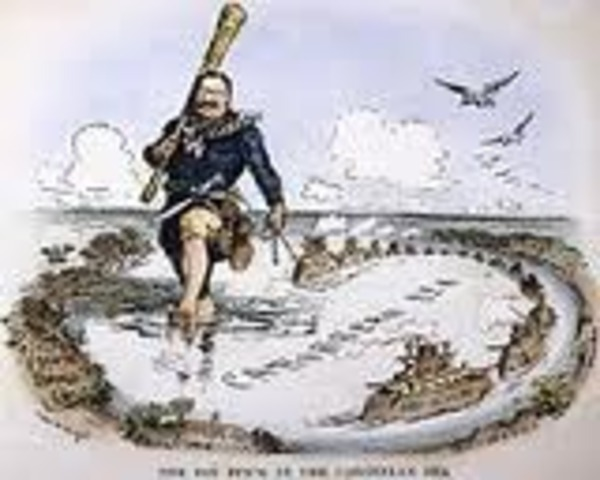 "Política de ""El Gran Garrote"" o Big Stick"