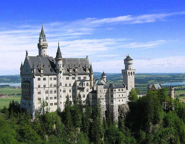 Castle Neuschwanstein at Schwangau, Bavaria, Germany.