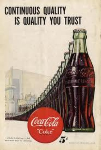 The fisrt Ad for Coca-Cola was published