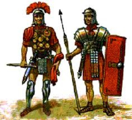 Roman establish postal service