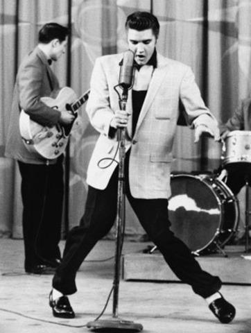 Meets Elvis; Teaches Dance Steps