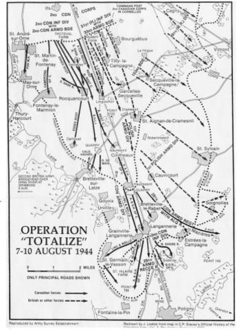 Canadian Troops Enter Falaise, France