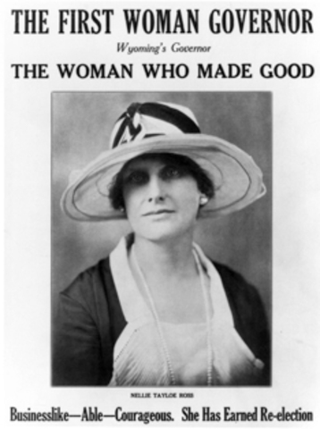 Nellie Tayloe Ross First Female Governor