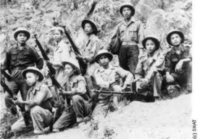 The French force at Dien Bien Phu fell to the Vietminh