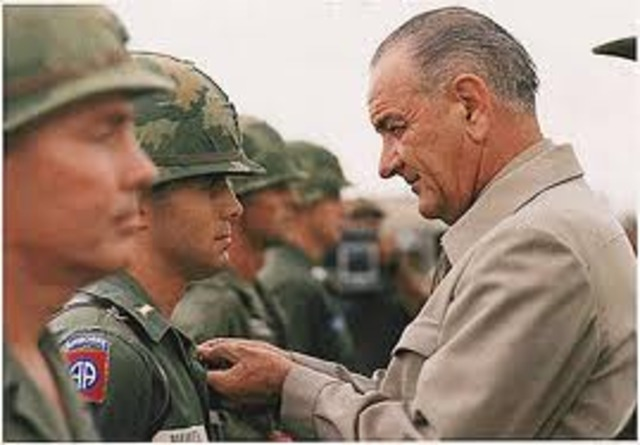 President Johnson announced that the North Vietnamese had fired on American ships