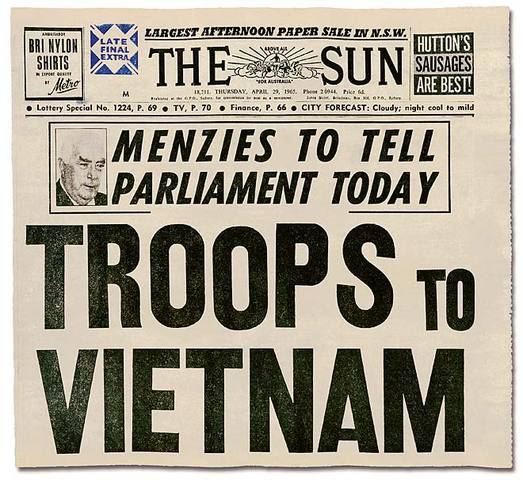 USA sends 200,000 troops to Vietnam