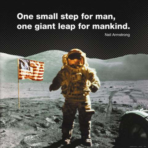 1st Man walked on the Moon.