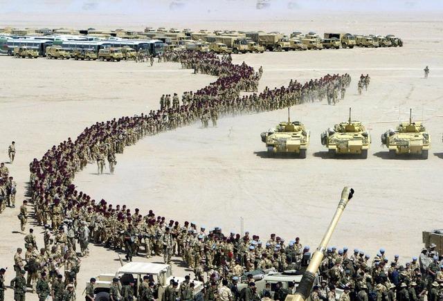 The US-Iraq War begins