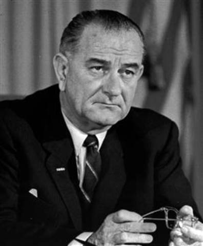 President Johnson Gets the Yes