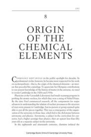 George Garnow publishes The Origin of Chemical Elements