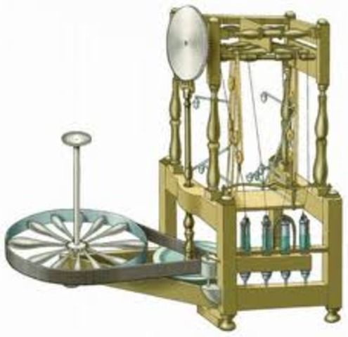 Richard Arkwright invents the water frame