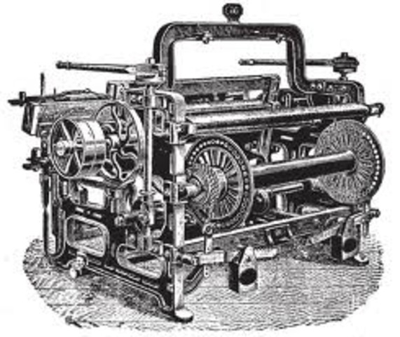 Edmund Cartwright invents the power loom