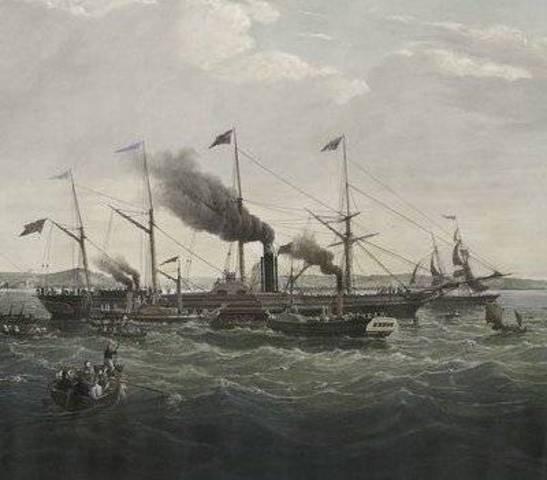 Brunel's Steamship The Great Western crosses the Atlantic