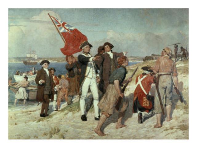 First fleet arives at Botany Bay