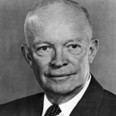 Eisenhower takes office