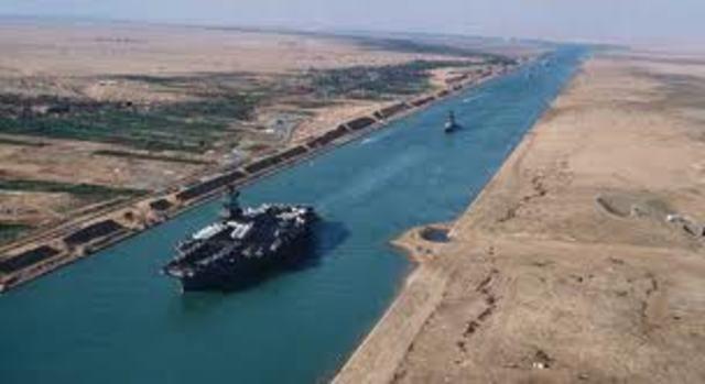 Suez Canal opens