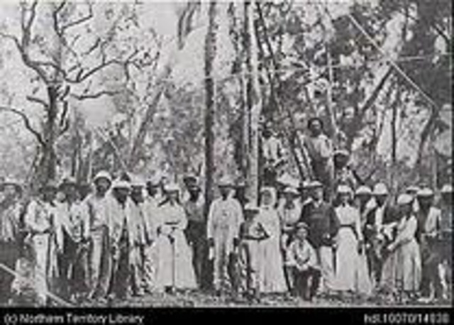 Overland Telegraph connects Australia to Asia