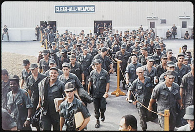 Nixon cuts down troops