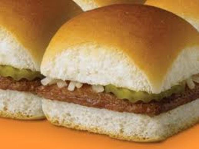 Modern hamburger sold for 5¢ ea.