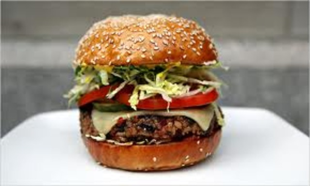 First veggie burger is produced.