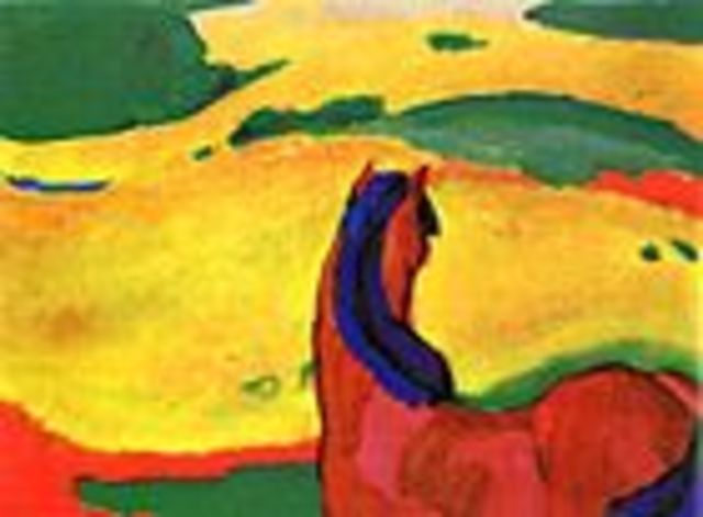 Horse in a Landscape/ Pferd in Landschaft