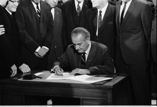 The civil Rights act was signed