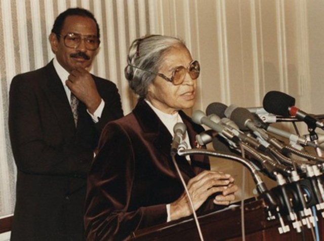 Rosa Parks was hired by a US Representative