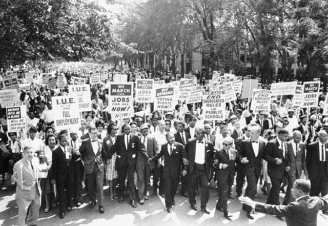 250,000 civil rights protesters marched in Washington