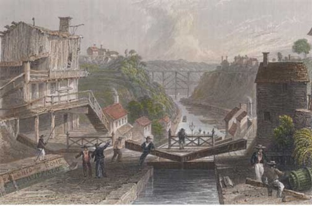 Erie Canal's Construction Begins