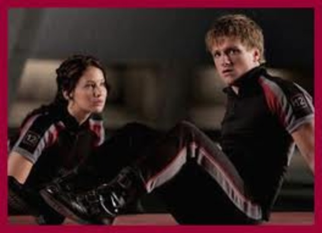 Katniss prepares to go into the Hunger Games arena