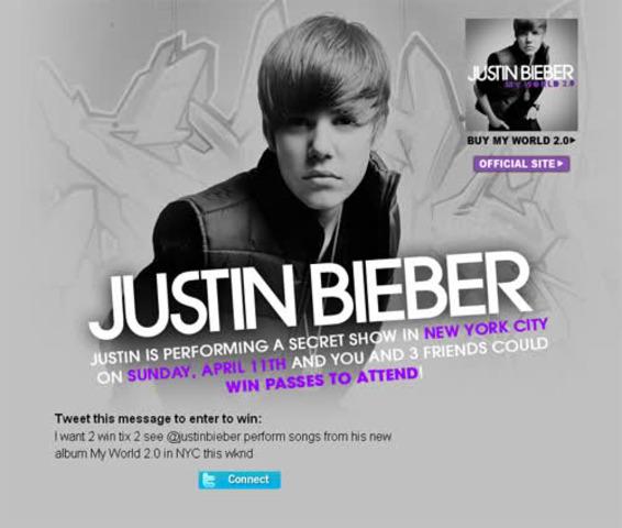 Justin Bieber Contest In New York