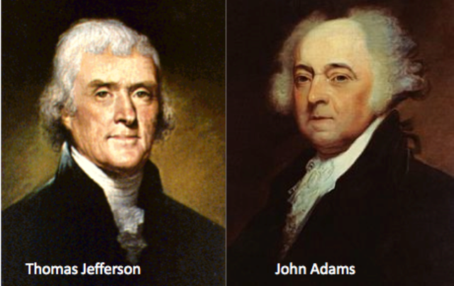 The Pass of Two Great Founding Fathers