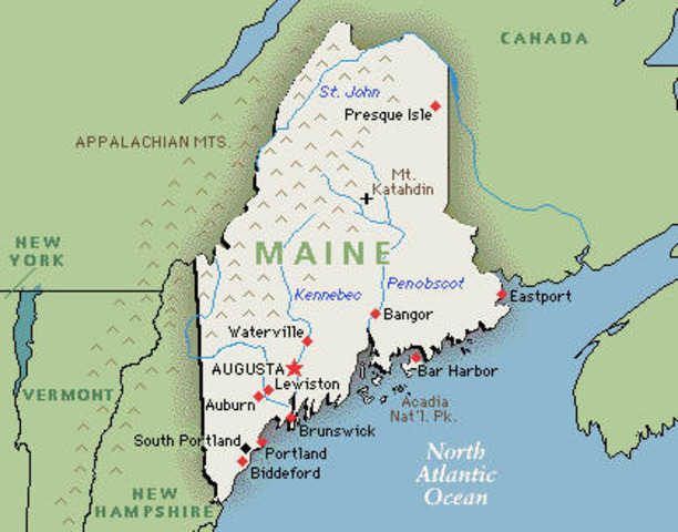 Maine becomes the 23rd state