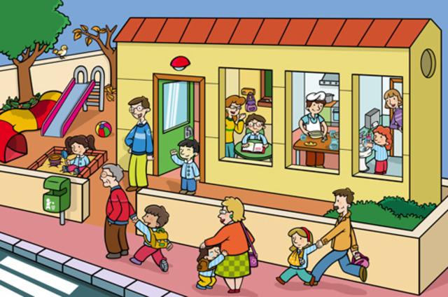 Su primer día de colegio