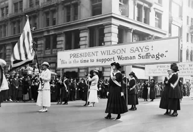 WIlson Supports Suffrage